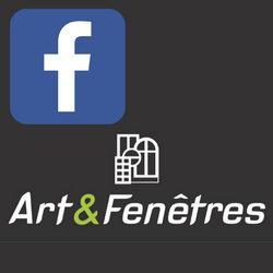 Logo Facebook sur le logo Art et Fenêtres