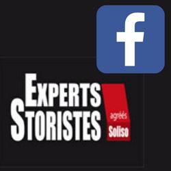 Logo Facebook sur le logo Experts Storistes
